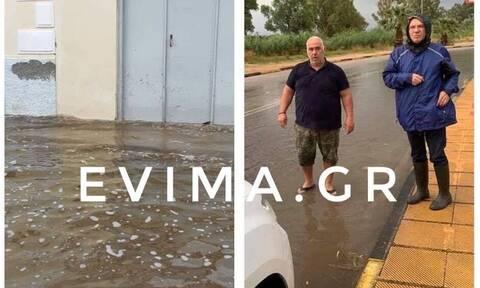 Κακοκαιρία Ιανός: Πλημμύρες και στην Ερέτρια - Δείτε εικόνες από την περιοχή