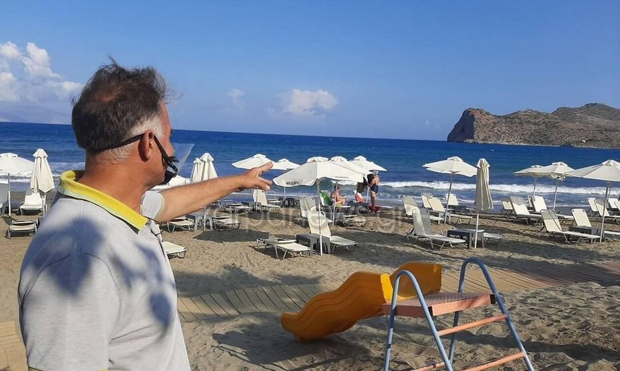 Χανιά - Λαχτάρα για τουρίστα: Παρασύρθηκε με φουσκωτό και βρέθηκε σε νησίδα (pics - vid)