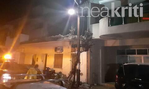 Κακοκαιρία Κρήτη: Κατέρρευσε μπαλκόνι στη Νέα Αλικαρνασσό (vid)