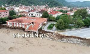 Κακοκαιρία Ιανός: Εικόνες καταστροφής από την πλημμύρα στο Μουζάκι Καρδίτσας