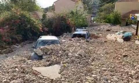 Κακοκαιρία Ιανός: ΣΟΚ στην Κεφαλονιά - Η Άσσος θάφτηκε κάτω από την λάσπη