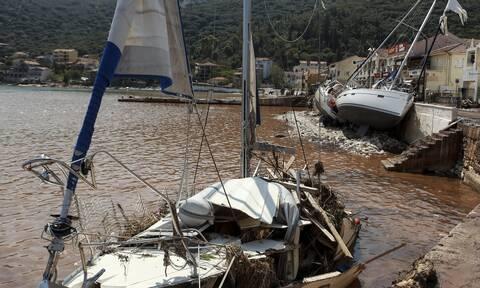 Ο «Ιανός» σάρωσε την Ιθάκη: Ένας τραυματίας και 41 σκάφη βυθίστηκαν ή υπέστησαν ζημιές