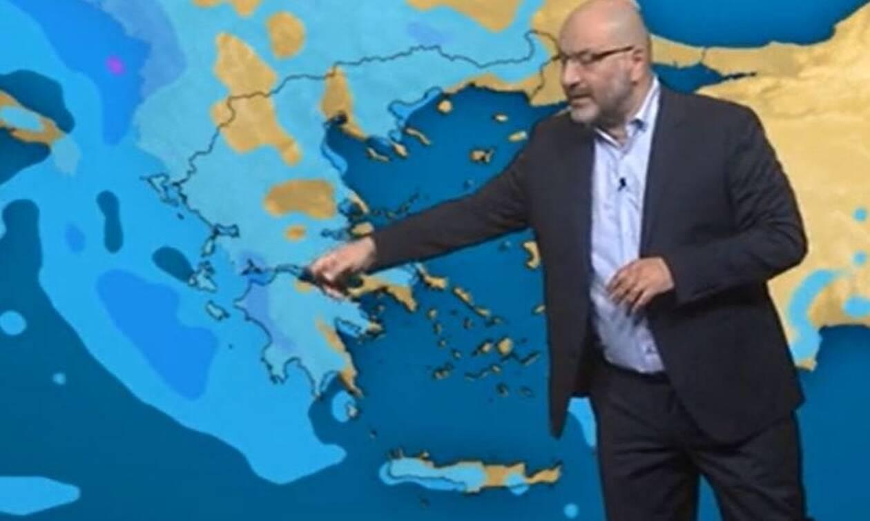 Καιρός: Πού θα βρέξει Τρίτη και Τετάρτη; Η ανάλυση του Σάκη Αρναούτογλου
