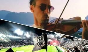 Το επικό σύνθημα της Τούμπας με βιολί πριν το Κράσνονταρ-ΠΑΟΚ (photos+video)