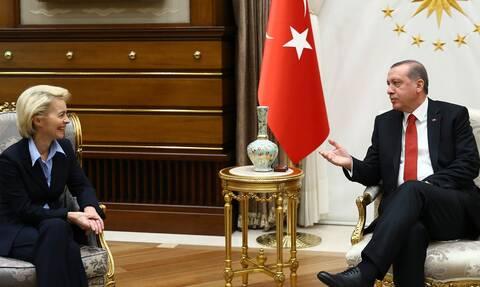 Ερντογάν: Mιλά με Ούρσουλα φον ντερ Λάιεν και Γενς Στόλτενμπεργκ