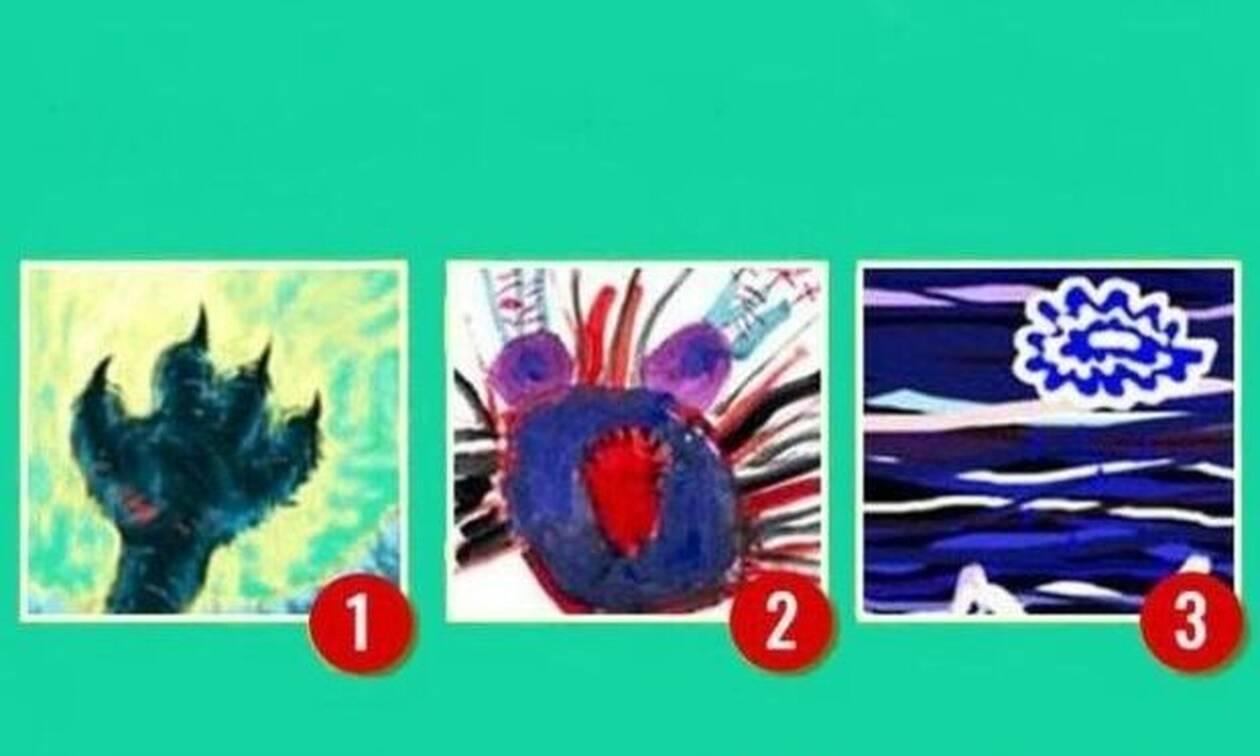 Διάλεξε 1 από τις 3 εικόνες που σου προκαλεί φόβο ή ενόχληση