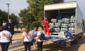 Ανθρωπιστική βοήθεια από τον Ελληνικό Ερυθρό Σταυρό σε Φάρσαλα και Καρδίτσα