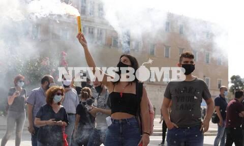 Ηχηρό «παρών» μαθητών στο πανεκπαιδευτικό συλλαλητήριο για τον κορονοϊό
