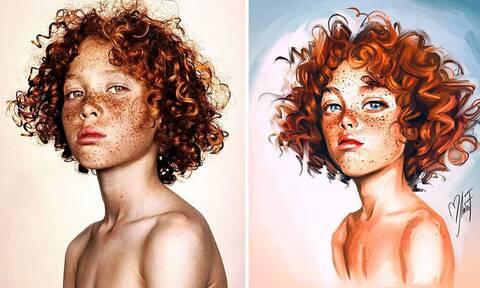 Τα ιδιαίτερα πορτρέτα παιδιών που έχουν γίνει viral