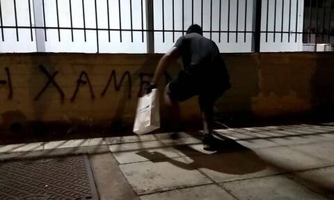 Χαλάνδρι: Επίθεση Ρουβίκωνα στο Κέντρο Επιχειρήσεων Πολιτικής Προστασίας (vid)