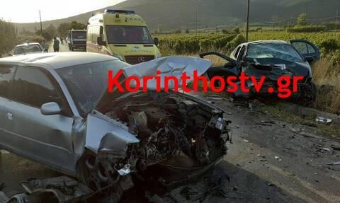 Τραγωδία στη Νεμέα: Φρικτό τροχαίο με ένα νεκρό και οκτώ τραυματίες (pics)