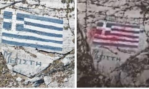 Χυδαία πρόκληση των Τούρκων στο Καστελόριζο: Το drone, οι μπογιές στην σημαία και τα εμβατήρια