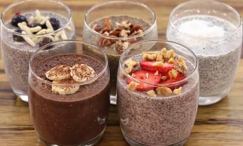 Πουτίγκα με σπόρους chia: Δες 5 διαφορετικές συνταγές