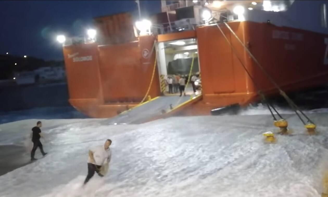 Τρομερός καπετάνιος: Η μάχη του «Διονύσιου Σολωμού» για να δέσει στη Σίκινο (video)