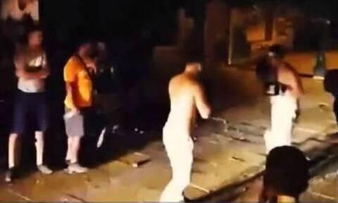 Κυψέλη: Αγώνες μποξ στο δρόμο - Σοκαριστικές εικόνες (vid)