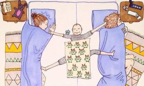 Απίθανα σκίτσα δείχνουν τη δύσκολη πλευρά της μητρότητας