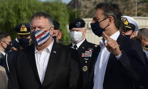 Δηλώσεις Μητσοτάκη-Πομπέο: Πυλώνας σταθερότητας η Ελλάδα - Μηνύματα προς την Τουρκία
