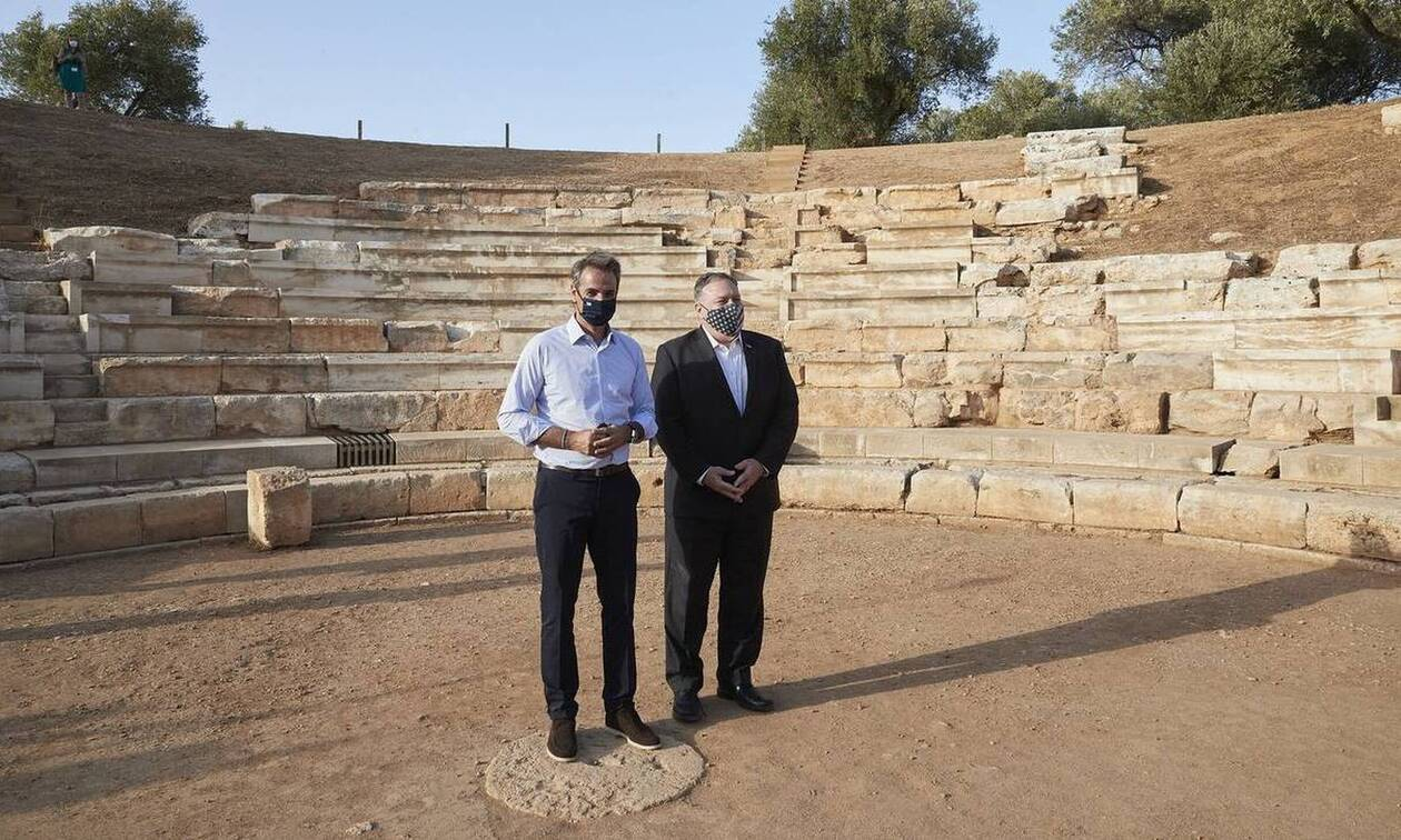 Χανιά: Την Αρχαία Απτερα επισκέφθηκαν Μητσοτάκης και Πομπέο - Τι ενθουσίασε τον ΥΠΕΞ
