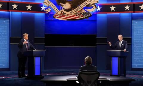 Εκλογές ΗΠΑ: Υψηλοί τόνοι και σκληρές κουβέντες στο ντιμπέιτ Τραμπ-Μπάιντεν