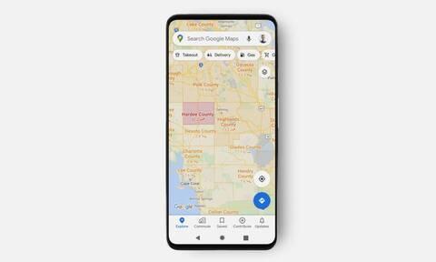 Google Maps: Νέα λειτουργία που εμφανίζει τα κρούσματα κορονοϊού ανά περιοχή