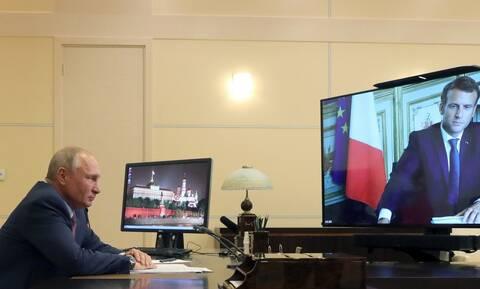 Ναγκόρνο-Καραμπάχ: Πούτιν και Μακρόν καλούν σε άμεση κατάπαυση του πυρός