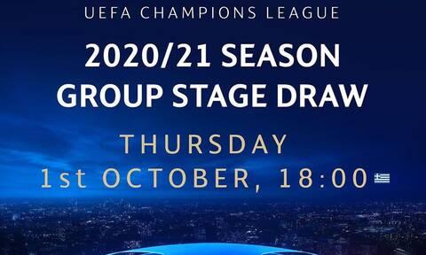 Live Streaming & Chat η κλήρωση του Ολυμπιακού στο Champions League