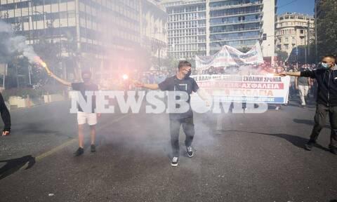 Πανεκπαιδευτικό συλλαλητήριο: Δύο συλλήψεις για τα επεισόδια στο κέντρο της Αθήνας