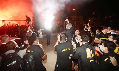 AEK: Η πρόκριση έφερε... έκρηξη χαράς σε κόσμο και ομάδα! (vids+pics)