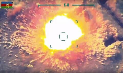 Μπάλα φωτιάς και μαύρος καπνός: Στη δημοσιότητα το βίντεο «της καταστροφής του αζέρικου ελικοπτέρου»