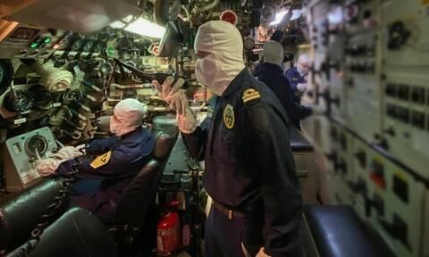Πολεμικό Ναυτικό: Βολή τορπίλης από το υποβρύχιο «Αμφιτρίτη» στο Μυρτώο πέλαγος
