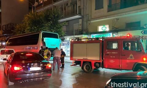 Θεσσαλονίκη: Φωτιά σε τουριστικό λεωφορείο στην Εγνατία