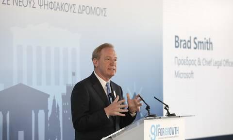 Πρόεδρος Micosoft: Γι' αυτό το λόγο επιλέξαμε την Ελλάδα - Ο Ρόλος Μητσοτάκη