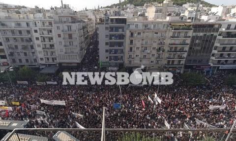 Δίκη Χρυσής Αυγής: Πορεία συνδικάτων προς τη Βουλή
