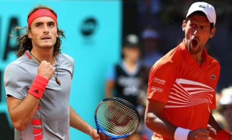 Τσιτσιπάς - Τζόκοβιτς: Live ο μεγάλος ημιτελικός τένις του Roland Garros