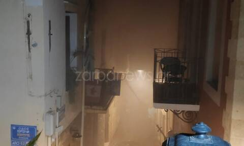 Χανιά: Συγκλονιστικές εικόνες της φωτιάς σε σπίτι - Δυο άνθρωποι θα καίγονταν ζωντανοί (pics - vid)