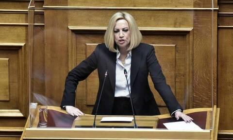 Γεννηματά: Ο ΣΥΡΙΖΑ είναι πια ακίνδυνος αντίπαλος για τη ΝΔ