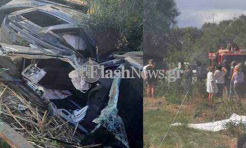 Κρήτη: Σοβαρό τροχαίο ατύχημα στην εθνική οδό Χανίων - Ρεθύμνου - Δυο πολυτραυματίες (pics)