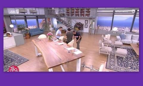 Το Πρωινό: Η Φαίη Σκορδά έπεσε στο πάτωμα on air! Χαμός στο πλατό!