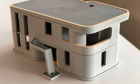 Γερμανία: Έλληνας κατασκευαστής παρουσιάζει 3Dδιώροφο κατοικήσιμο σπίτι (pics)