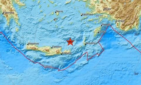 Σεισμός στην Κρήτη - Βόρεια της Σητείας το επίκεντρο (pics)