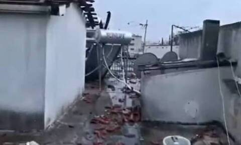 Κακοκαιρία - Νέο Ηράκλειο: Σκύλος βρέθηκε στην απέναντι ταράτσα - Τον πήρε ο αέρας!