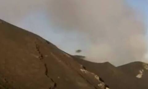 UFO βγαίνει μέσα από ηφαίστειο! (video)