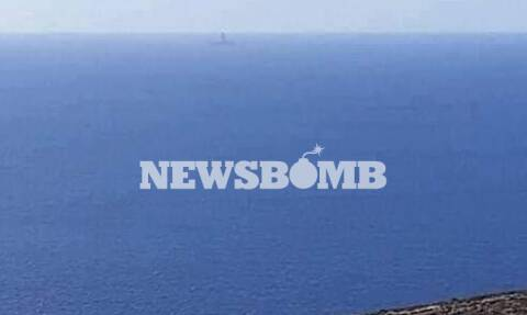 Kanuni: Ορατό από τις ακτές της Ρόδου το τουρκικό ερευνητικό - Φωτογραφίες ντοκουμέντο Newsbomb.gr