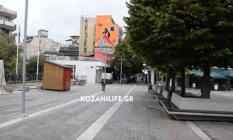 Κορονοϊός: «Έρημη» η Κοζάνη μετά το lockdown – Λουκέτο στα καταστήματα, αλλά τα σχολεία ανοιχτά