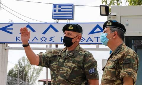 Επιθεώρηση στον Έβρο από τον αρχηγό ΓΕΕΘΑ, στρατηγό Κωνσταντίνο Φλώρο