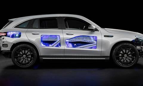 Ο «εσωτερικός κόσμος» της ηλεκτρικής Mercedes EQC αποκαλύπτεται