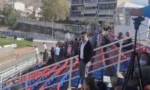Το πρώτο ελληνικό ματς με κόσμο στην εποχή του κορονοϊού (pics)