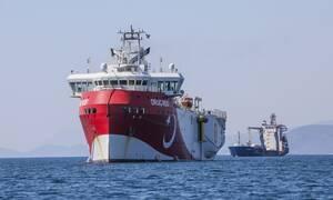 Κάτω από τα 10 ναυτικά μίλια το Oruc Reis - Πλησιάζει το Καστελόριζο