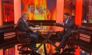 Αλέξης Γεωργούλης και Γιάννης Ζουγανέλης στην εκπομπή του Τάκη Χατζή στον Alpha