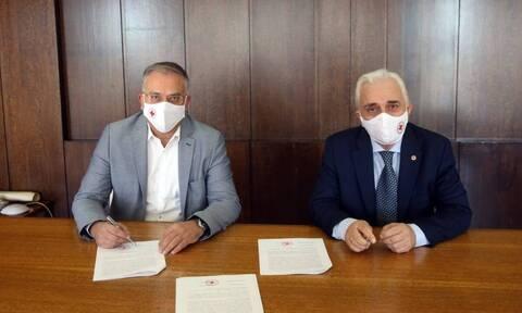 Μνημόνιο Συνεργασίας του υπουργείου Εσωτερικών με τον Ερυθρό Σταυρό